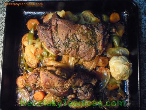 Carne ya cocida